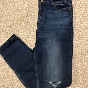 KanCan Jeans , Semi High Waisted, Distressed Knees